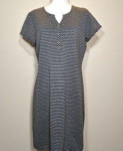 Liz ClaiborneTee Shirt Dress Striped Tunic Large